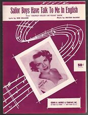 Sailor Boys Have Talk To Me In English 1955 Rosemary Clooney Sheet Music