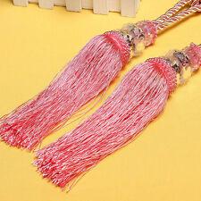 Luxury Crystal Bead Diamond Curtain Rope Tie Back Silk Tassel Holdbacks IG