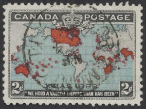 Canada #86 Map Stamp, Light Tor & Mont CDS, VF Used