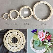 Rattan Wreath Round Ring Christmas Wedding Wall Decor Display Handmade Home DIY