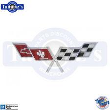 1977 Corvette Cross X Flag Fuel Gas Door Emblem USA Made Trim Parts 5963 New