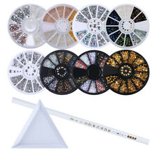 8 Styles/Set 3D Nail Art Decoration Article+ Rhinestone Picker Wax Pen & Palette