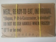 MRE Case of 12 Meals Ready to Eat Case B Sealed Test Date 2018 Genuine Mil Spec