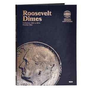 Whitman Blue Coin Folder 9034 Roosevelt Dime #2 1965-2004  Album / Book  10 cent
