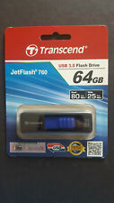 Transcend 64GB JetFlash 760 USB 3.0 Flash Drive-Black, Blue