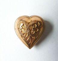 Coulant Normand passant Coeur en métal doré Bijou régional ancien heart