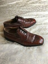 Stacy Adams US Made Hommes Marron Serpent Cuir Formelle Chaussures UK11/US 12