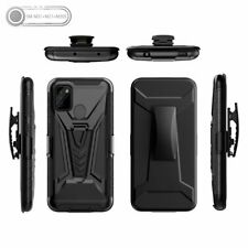 For Samsung Galaxy A21S Shockproof Heavy Hybrid Holster Belt Clip Case Cover
