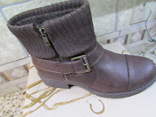 NEW BORN B.O.C NISIDA BROWN ANKLE BOOTS WOMENS 9 Z26223 BOOTIES