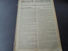 1942 Bauzeitung 12 / Luftschutz Heimatfront / Ulrich Graf Danzig /  Biberach /