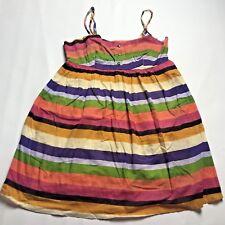 Twenty One Babydoll Top Womens Small Striped Pink Purple Shirt Spaghetti Strap