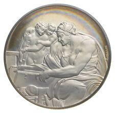 Sterling Silver - The Genius Of Michelangelo - 925 - 39.4g Round/Art Bar *072