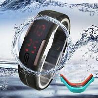 Bracelet en silicone LED Thin Men Sport Montre numérique cadeau pour le papa EH