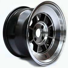 "Rota Shakotan 15X8 +10 Black Machine 4X100 Fit Civic Miata Integra Wheel 3"" Lip"