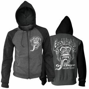 Officially Licensed Gas Monkey Garage- Dallas, Texas Varsity Zipped Hoodie S-XXL