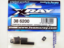 Xray M18 Composite Servo Mount + Antenna Holder Set 386200 modellismo
