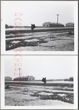 Unusual Vintage Photos Scary Scarecrow on Roadside in Winter Snow 713107