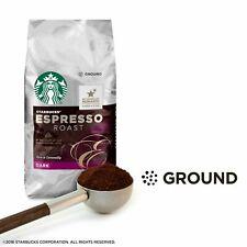 STARBUCKS COFFEE ESPRESSO ROAST Ground Dark Roast,100%  12 oz, FREE Ship