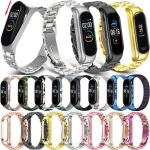 For Xiaomi Mi Band 5/4/3 Smart Watch Stainless Steel Nylon Wrist Band Strap Belt