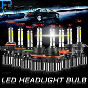 4-Side LED Headlight Bulb 6000K H4 H7 H11 H13 5202 9004 9005 9006 9007 9012 Lamp
