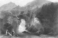 Turkey ANTIOCH DAPHNE BEIT EL MA WATERFALLS ~ 1836 LANDSCAPE Art Print Engraving