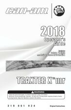 New listing Can-Am 2018 Traxter X Mr Owners Operators Maintenance Manual Paperback