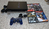 PS2 Fat Playstation 2 Console SCPH-50001 Bundle System Lot w/ Games
