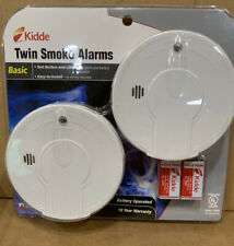 Kidde Twin Smoke Alarms Model i9050. Qty. 2 In Sealed Pack. Easy Install
