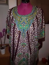 Moroccan Kaftan Africa Leopard Print BEACH House Summer Dress One Size