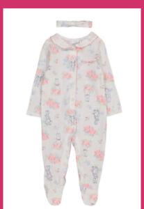 Peter Rabbit Baby Girls Sleepsuit And Headband