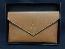 NIB Mercedes Benz Tan Leather Snap Document Holder Or Clutch