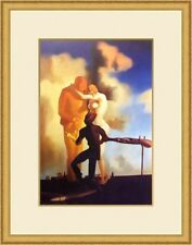 "Salvador Dali ""Meditation on the Harp"" Custom Framed Print FREE SHIP"