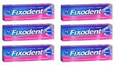 6 Pack - Fixodent Denture Adhesive Cream Original 0.75 oz Each