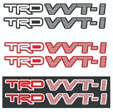Trd Vvti with Background Color vinyl Sticker Decals - Vvti Trd - Set of 2