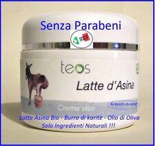 CREMA VISO AL LATTE D'ASINA  SENZA PARABENI e PETROLATI !!!  PRODOTTO ITALIANO !