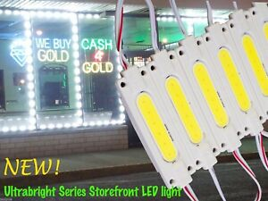 LEDupdates Brightest Store front LED window Light COB Module + UL Power Supply