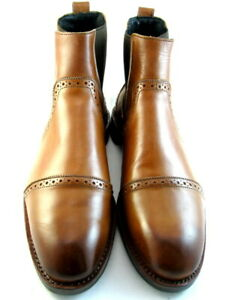 "NEW Allen Edmonds ""LOMBARD"" Men's Chelsea Dress Boots 10.5 D Walnut  (502)"