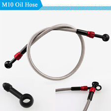 575mm Motorcycle Brake Clutch Oil Hose M10 W/ Removable Joint Aluminum + Plastic