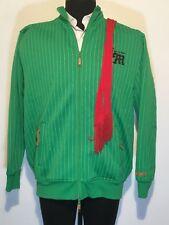 Live Mechanics Well Established Mens XL Coat Jacket Green Embriodered Lined 0077