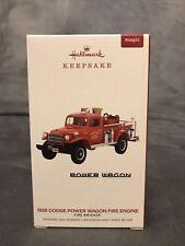 2019 Hallmark 1958 Dodge Power Wagon Fire Engine-Fire Brigade 17th in Series