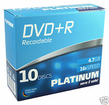 10 Platinum DVD R 4 7gb 120min 16x Slimcase
