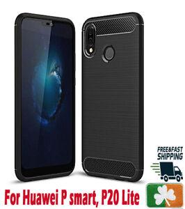 Brand NEW Rugged Case For Huawei P Smart  P20 P30 P40 Y6 Carbon Fibre Design