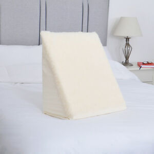 Fleece Spare Cover for Bed Wedge Pillow Replacement Cosy Pillowcase Washable