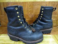 "Chippewa Men's 8"" Steel Toe Logger Boots Size 8.5 M"