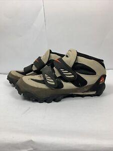 Nike 1997 ACG Mens 10.5 Beige Mountain Bike 2-Bolt Cycling Shoes 184023-281
