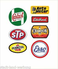 Set di Adesivi STP Sticker GASOLINE Pennzoil CHAMPION Oldtimer Youngtimer Retrò