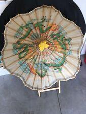 Umbrella Rice Paper Oriental Vintage Parasol