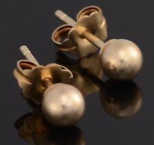 #074 Brand New Beautiful 14K Yellow Gold 4 mm Ball Earrings 0.5 Grams Not Scrap