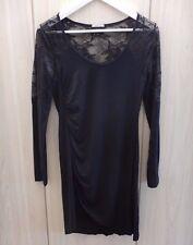 Vestito abito INTIMISSIMI nero pizzo - autunno inverno - donna - taglia M