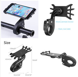 Black Aseismatic Function With Silicone Material Motorcycle Bike Phone Holder